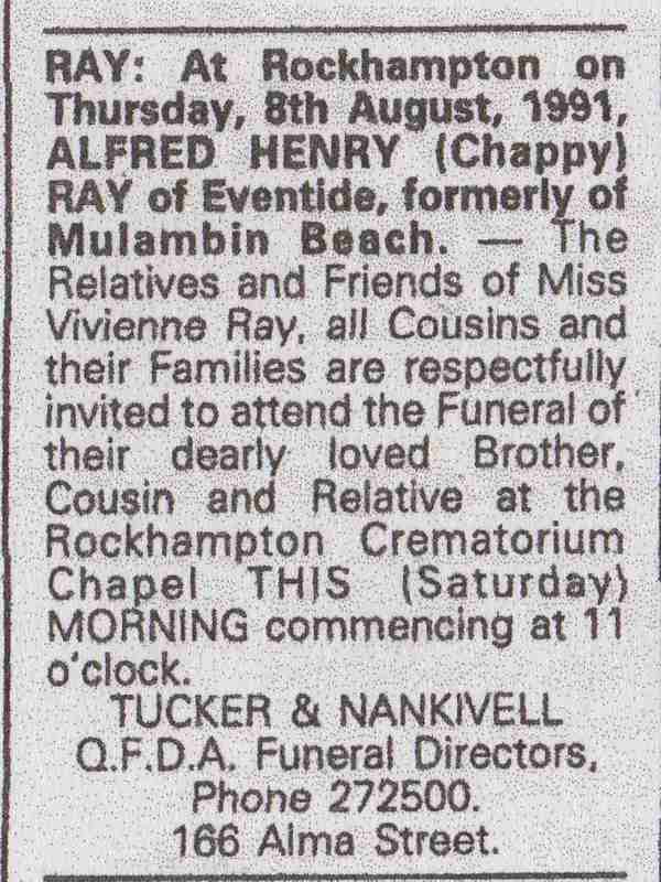 Ray, Alfred Henry 'Chappy' death notice.jpg