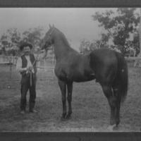 Babington, William Charles Hume with race horse.jpg