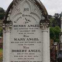 Henry Angel DOD:  7 Dec, 1881&lt;br /&gt;<br />