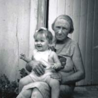 Michelle Hulm with her Maternal Grandmother Mabel Veronica ledwidge (nee Fox born 1900) - Wife of Frank Bartle Ledwidge