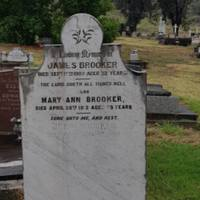 James Brooker DOD: 17 Sep 1907&lt;br /&gt;<br />