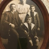 Albert (Cap) Angel and his wife Margaret and their children  Allen and Harold (Ack).
