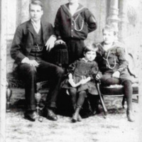 Ray family L to R, Francis R, Sidney V, Eleanor Mary, Arnold William.jpg