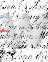 Lawrence Wade, Christening Record, 1752