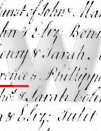 John Wade Christening 1754