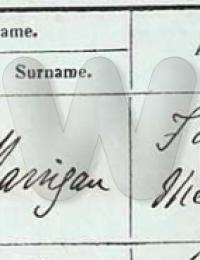 William Harrigan Christening 1858