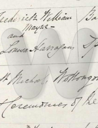 Frederick Mayne and Louisa Harrigan Marriage